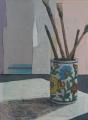 Ceramic Pot and Brushes