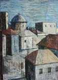Village Composition with Church