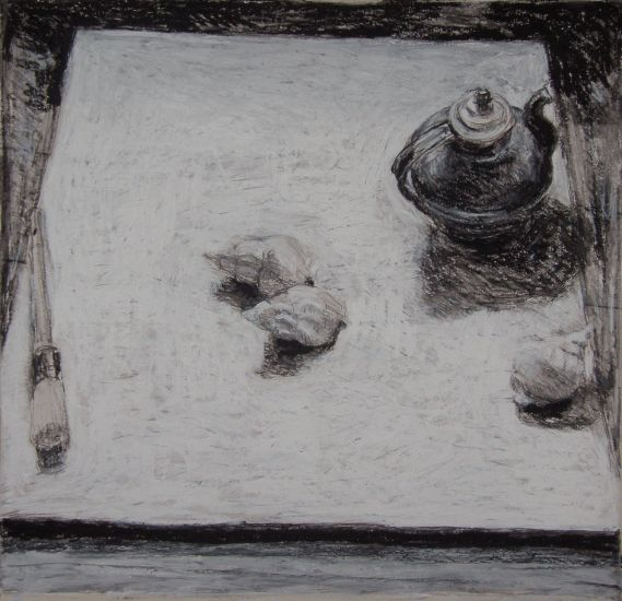 Teapot, Shells and Brush