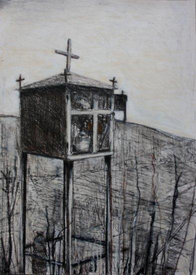 Roadside Shrine with Five Crosses
