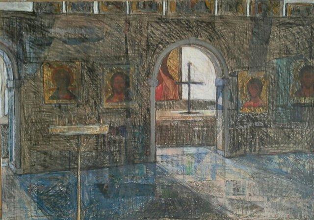 Winter Light, Iconostasis, Church of St Andrew, Edinburgh