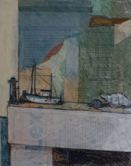 Mantelpiece with Boat and Lighthouse
