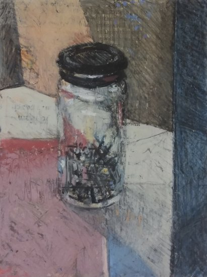 Glass Jar of Nails